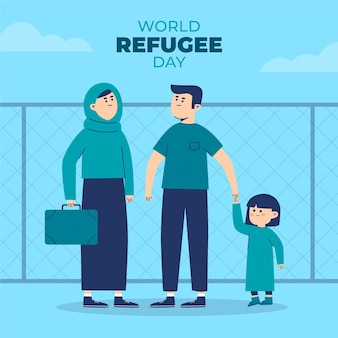 World refugee day with family