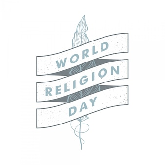 World religion day vintage vector