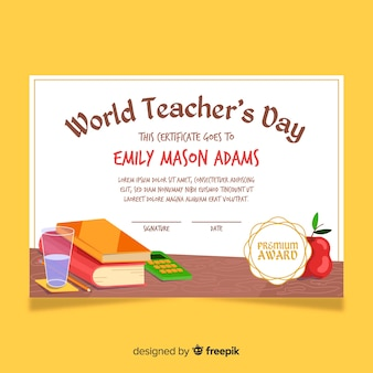 World's best teacher diploma template
