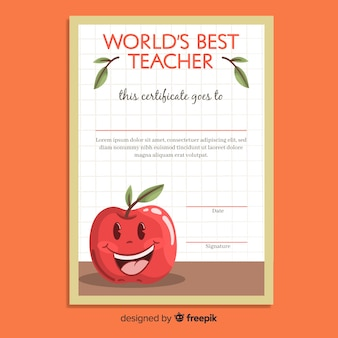 World's best teacher diploma