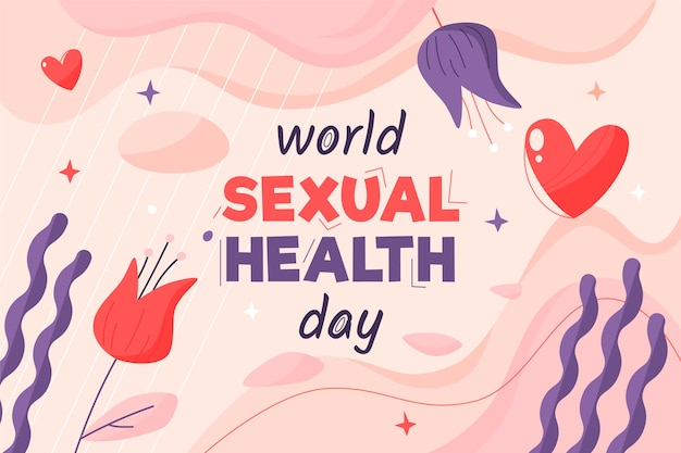 World sexual health day background