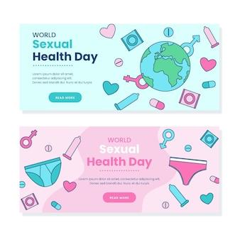 세계 성 건강의 날 배너 세트