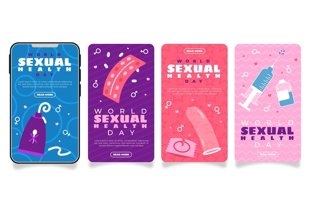 World sexual health day instagram stories collection