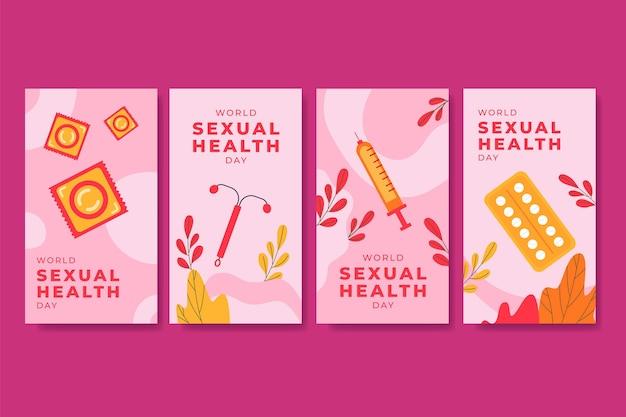 Raccolta di storie su instagram per la giornata mondiale della salute sessuale