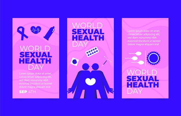 世界の性の健康の日のinstagramの物語のコレクション