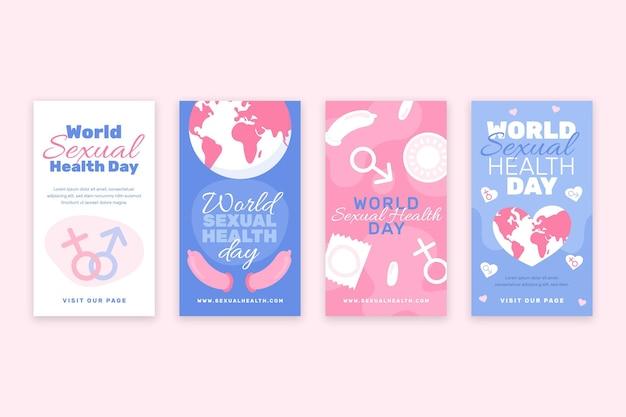 Коллекция историй всемирного дня сексуального здоровья в instagram