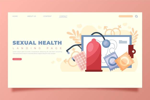 世界の性の健康の日のランディングページテンプレート