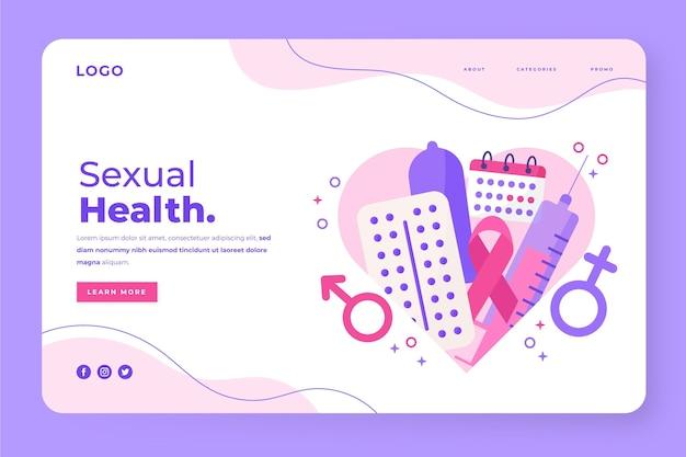 세계 성 건강의 날 방문 페이지 템플릿