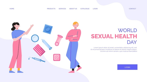World sexual health day landing page template