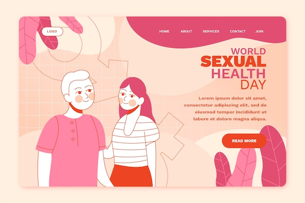 Шаблон целевой страницы всемирного дня сексуального здоровья