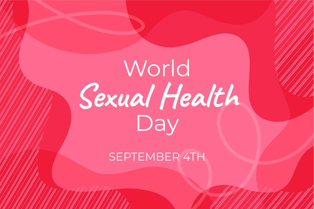 World sexual health day pink wavy background