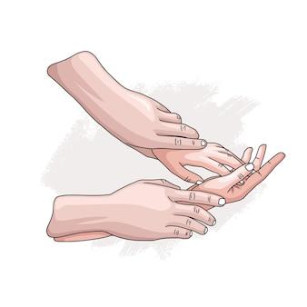 손으로 그린 스타일 2와 함께 세계 성 건강의 날 테마