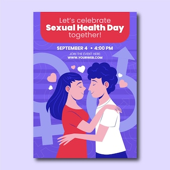 World sexual health day vertical flyer template