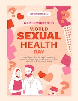 Modello di volantino verticale per la giornata mondiale della salute sessuale