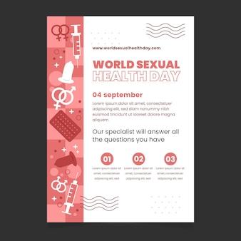 Шаблон вертикального флаера всемирного дня сексуального здоровья