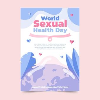 世界の性の健康の日の垂直チラシテンプレート