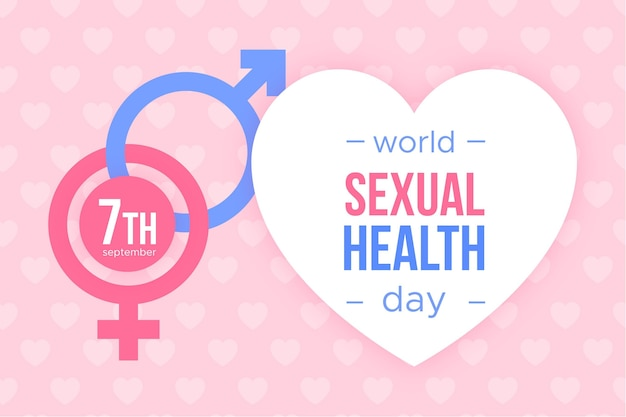 World sexual health day with gender signs