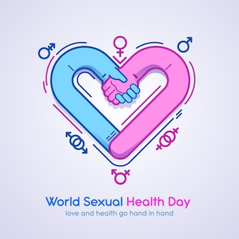 World sexual health day with heart shape
