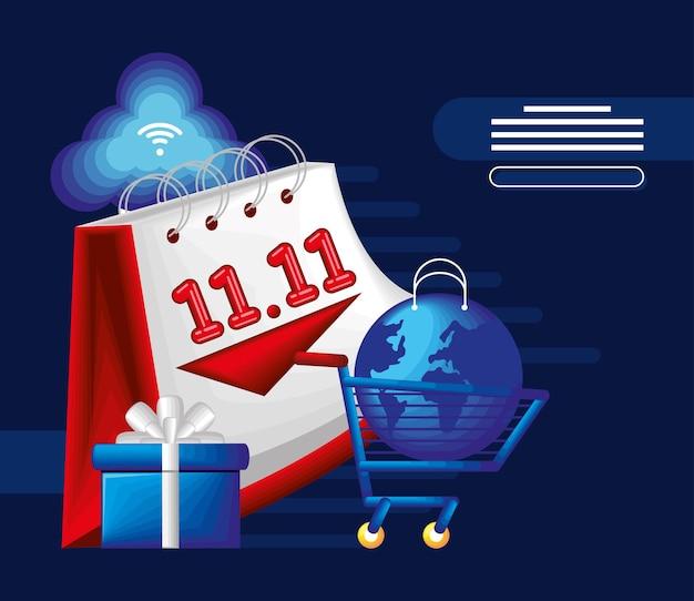 World shopping day card