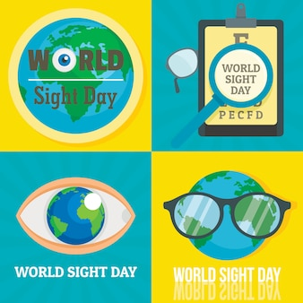 World sight day banner set