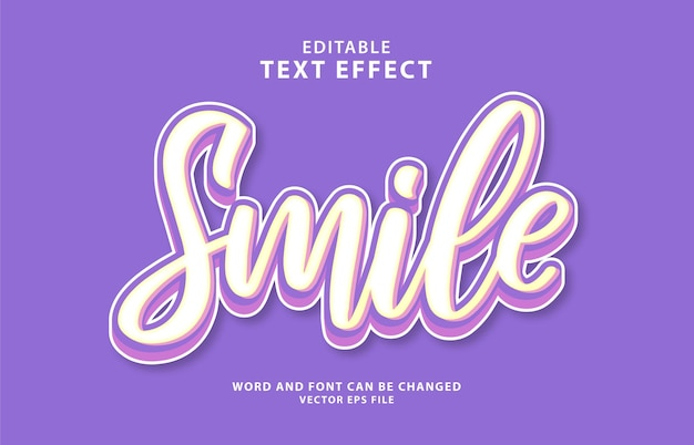 World smile day 3d editable text effect