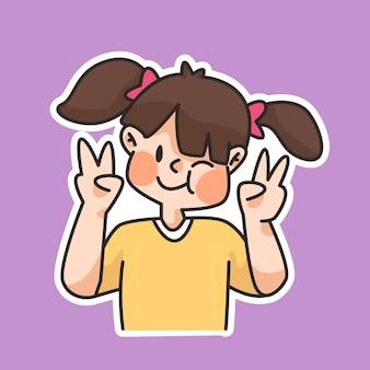 세계 미소의 날, 귀여운 만화 미소, 사람들이 행복하게 웃고, 웃고, 만화 그림을 즐기고