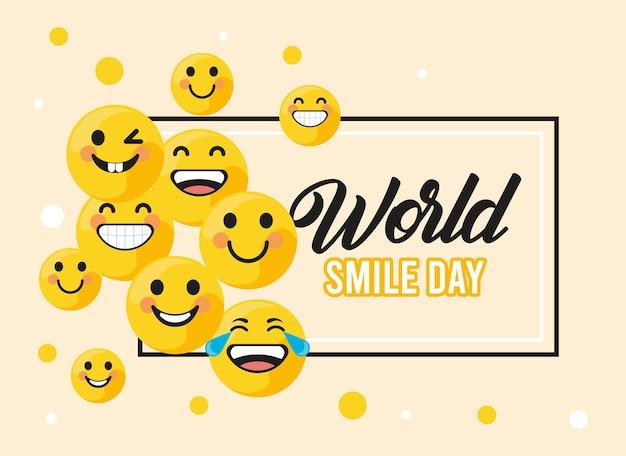 世界の笑顔の日フレーム