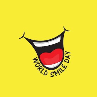 世界の笑顔の日のイラストデジタルアート