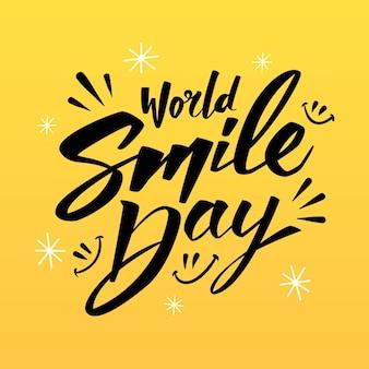 World smile day - lettering