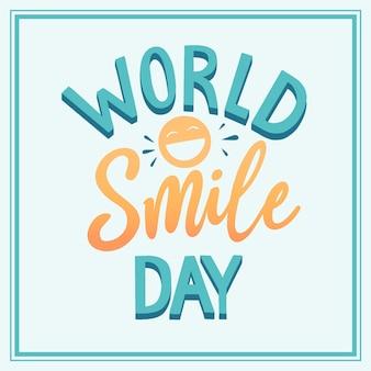 World smile day lettering