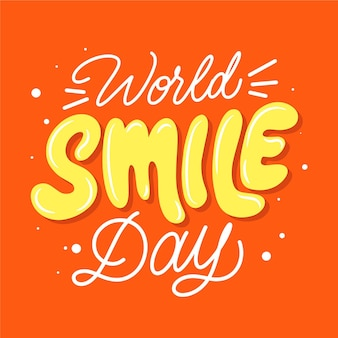 World smile day lettering