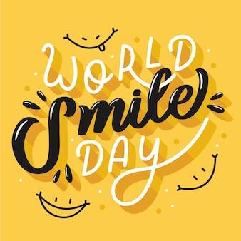 世界の笑顔の日レタリング