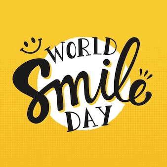 World smile day - lettering