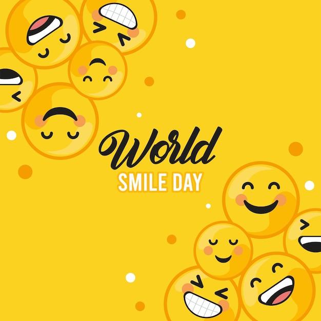 世界の笑顔の日はがき