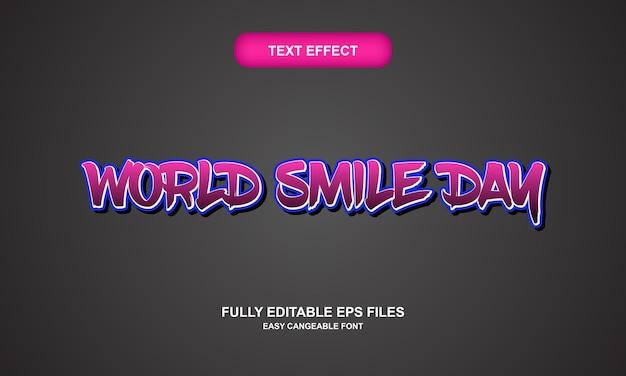 世界の笑顔の日のテキスト効果