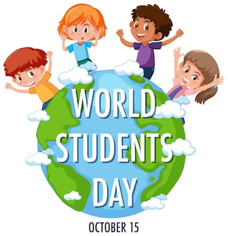 World students day logo or banner