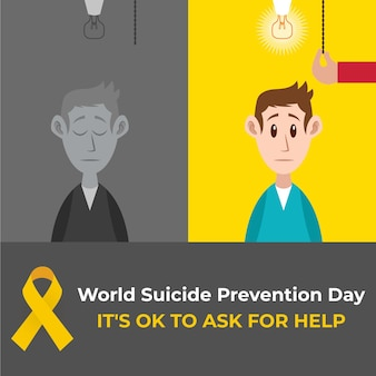 World suicide prevention day concept