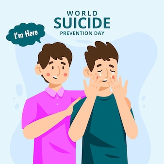 World suicide prevention day with men