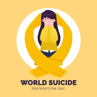 World suicide prevention day with woman