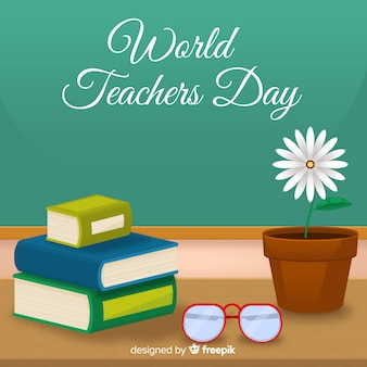 World teacher's day background