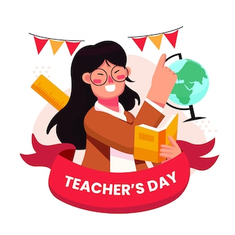World teacher's day illustration