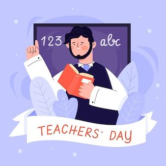 World teacher's day illustration