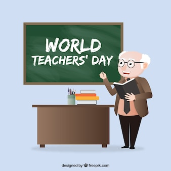 World teacher's day, old professor