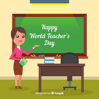World teachers' day composition female teacher