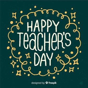 현대 타이포그래피로 세계 교사의 날 구성