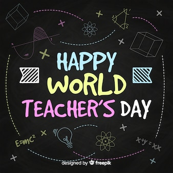 World teachers' day composition with modern typography