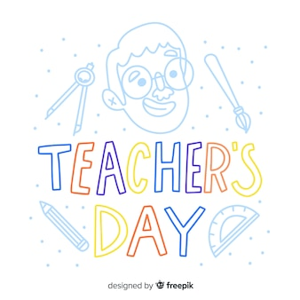 World teachers' day lettering
