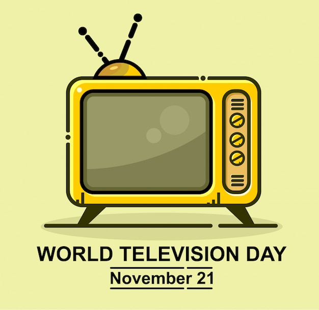 World television day icon vector