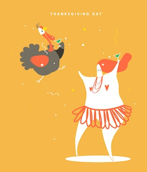 World thanksgiving day concept illustration