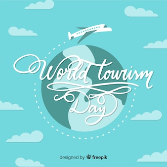 World tourism day background with typograhy